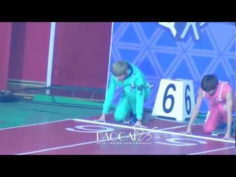 130128 - 130129 EXO Luhan @ MBC idol star olympic sports championship athletic 2013