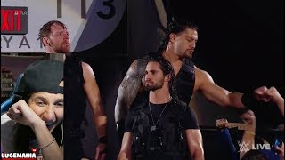 WWE Raw 10/16/17 The Shield Entrance Through Crowd is Back