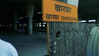 Navi Mumbai KharGhar Local Railway Station.नवी मुंबई खारघर लोकल रेलवे स्टेशन.Local Train