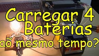 Como Fazer Um Carregador de bateria profissional para carregar de uma ate quatro bateria ao mesmo te