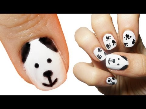 Puppy Dog Nail Art