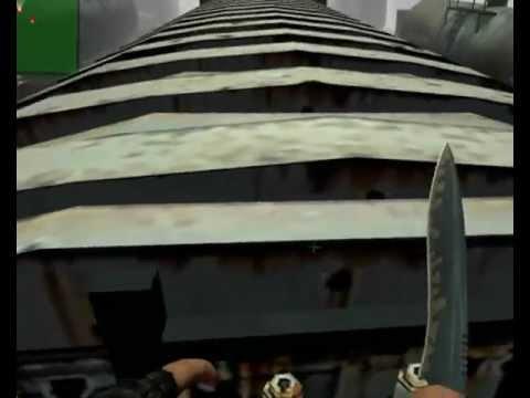 Counter Strike source Игра на ножах!