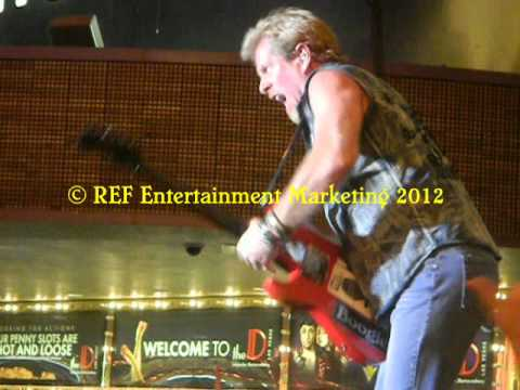 NIGHT RANGER Solo BRAD GILLIS Crazy Train Las Vegas Copyright REF Entertainment Marketing 2012