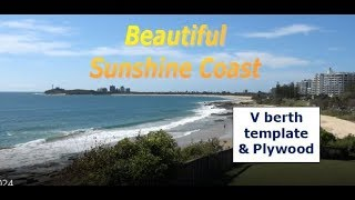 Building my steel sailing yacht Ep.25 The V berth template & Plywood & Sunshine Coast!