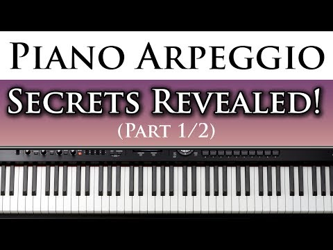Best Free Piano Lessons Learn to Play Left Hand Piano Arpeggios (1/2)