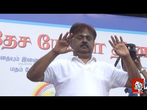 Vijayakanth performing Yoga | International Yoga Day