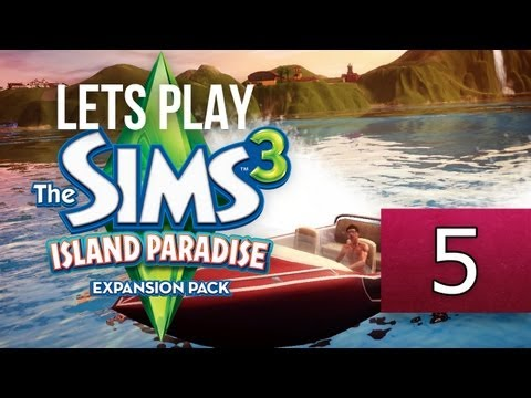 Let's Play: The Sims 3 Island Paradise - [Part 5] - AQUA SLED!!!