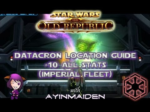 ★ SWTOR ★ Datacron Location Guide Imperial Fleet Ziost Shadow +10 to All Stats
