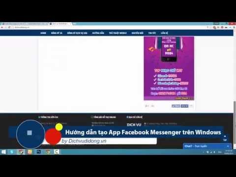 Hướng dẫn tạo App Facebook Messenger trên Windows | Dichvudidong.vn