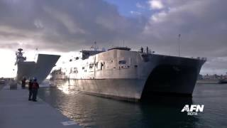 USNS Spearhead Arrives in Rota: Jan. 8, 2016