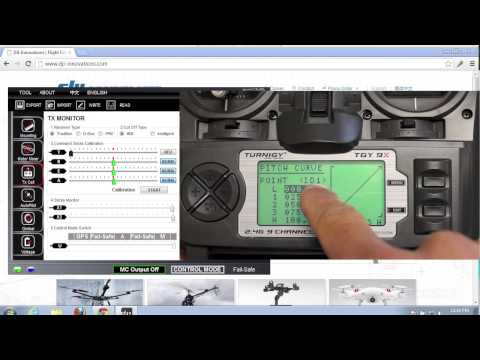 DJI Naza 3 Flight Modes (Attitude. Manual. and GPS) w/ Turnigy 9X Transmitter and 3 Position Switch