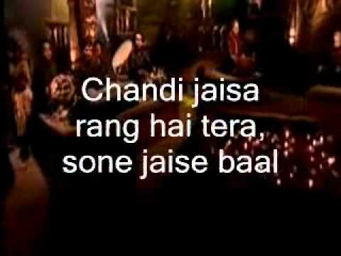 Chandi Jaisa Rang Hai Tera-instrumental & Lyrics video