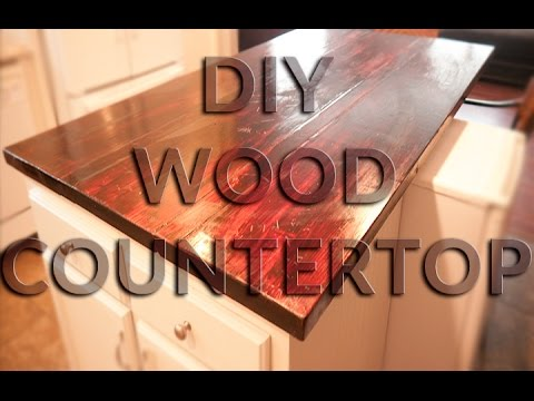 DIY Wood Countertop   Butcher Block Style   Anyone Can Do This One!