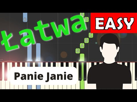Panie Janie (Frère Jacques, Brother John) - łatwa Synthesia (EASY)