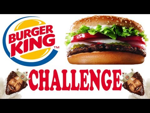 Burger King Whopper Challenge - How many can you eat under 10 min?