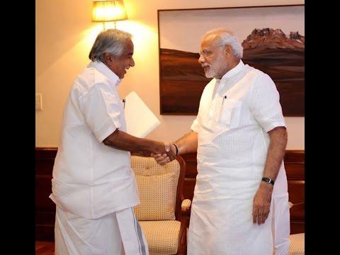 Kerala CM Oommen Chandy meets Prime Minister Narendra Modi
