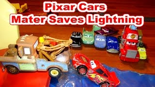 Disney Pixar Cars with Lightning McQueen with Mater, and the Sky High Bridge Jump from Mattell