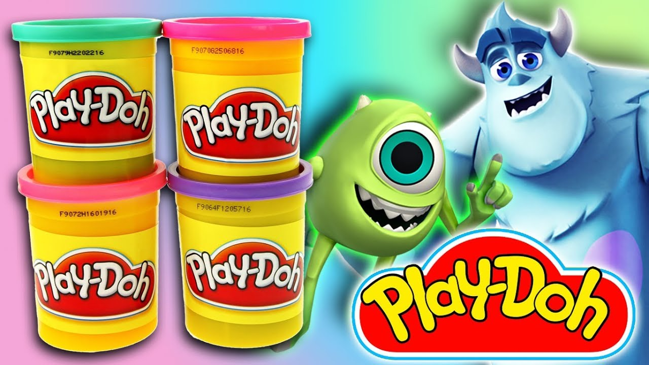 Disney Movie Monsters University Play Doh Toys Color Clay Toys For