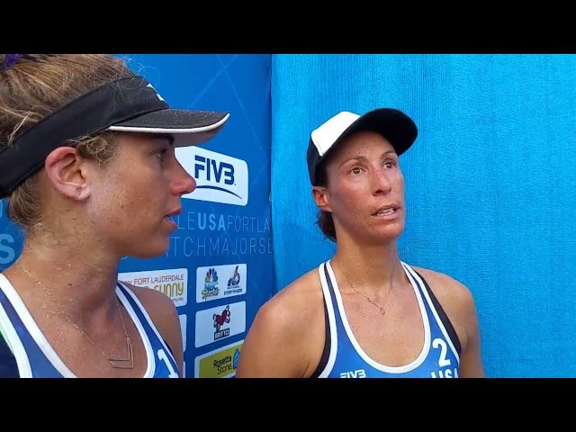 April Ross and Lauren Fendrick beat Brazil champs