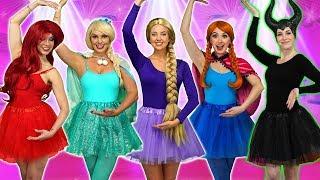 DISNEY PRINCESS BALLERINAS. (Ballet Performance with Ariel, Rapunzel, Belle, Elsa, Anna, and Tiana)