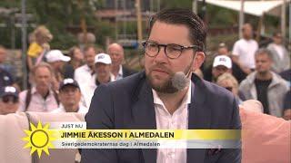 """Jimmie Åkesson: """"Jag är övertygad om att vi kommer bli största partiet""""  - Nyhetsmorgon (TV4)"""