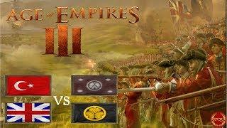 Age of Empires III // Härtestes 2vs2 ever als Osmane mit Briten vs. Japaner und Sioux