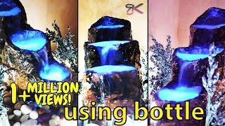 [DIY] How to make cemented waterfall fountain (with Relaxing sound of waterfall )