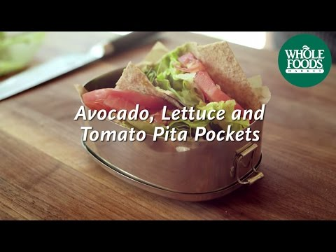 Avocado, Lettuce and Tomato Pita Pockets l Homemade Healthy | Whole Foods Market