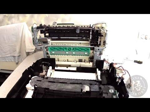 Как отделить механизм принтера Canon Pixma от корпуса