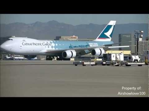 Cathay Pacific Cargo 747-8 'Hong Kong Trader' CLOSE-UP Taxi LAX!!