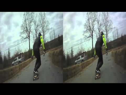Awesome 3D Stereoscopic Longboard Skateboard & Street Luge Racing at PEC 2010.