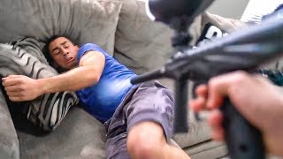 PAINTBALL SCARE PRANK *FUNNIEST REACTIONS*