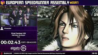 #ESA17 Speedruns - Final Fantasy VIII [PSX Disc US Any%] by Chowzter