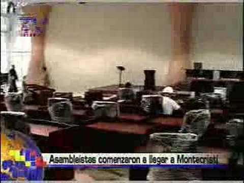 Asambleistas comenzaron a llegar a Montecristi.