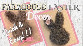 QUICK N EASY DOLLAR TREE FARMHOUSE EASTER DECOR | Dollar Tree DIY | Dollar Tree Easter DIY