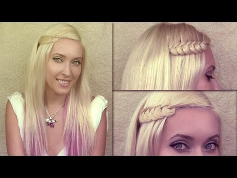 Knotted braid hair tutorial for party and everyday Summer hairstyles for medium long hair