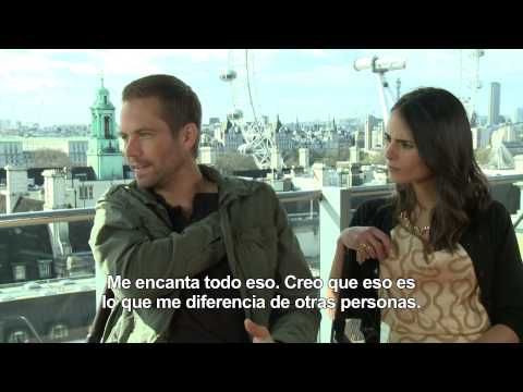 FAST & FURIOUS 6 -Entrevista a Paul Walker y Jordana Brewster