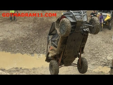 Crazy driver backflips twice with a RZR XP