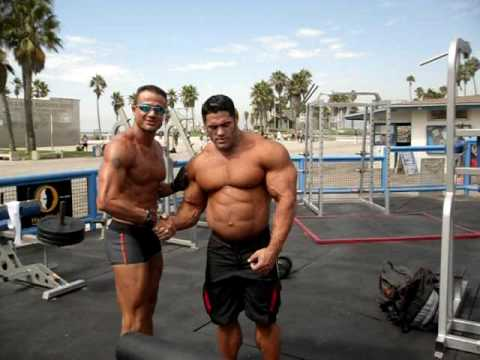 Muscle Beach, Gustavo Badell and Rolando Amorim