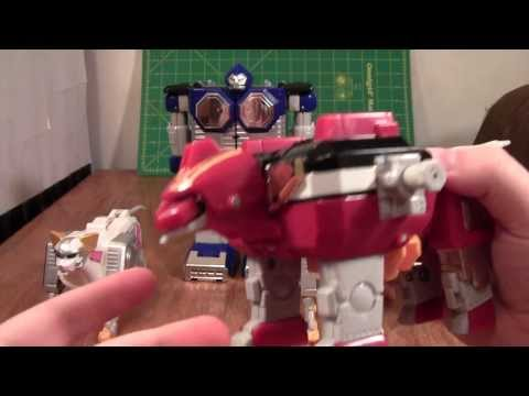 Power Rangers Lost Galaxy Megazord Review (Seijuu Sentai Gingaman Gingaioh toy figure)