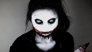 Jeff the killer Halloween Makeup Tutorial - Creepy Pasta
