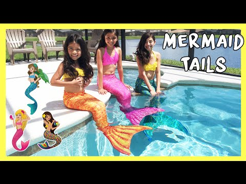FIN FUN MERMAID TAILS - Live Mermaids Swimming In Our Pool