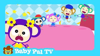 Five Little Monkeys Jumping On The Bed   English Songs for Babies and Kids   Baby Pal TV