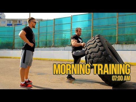 "Morning training with Denis Cyplenkov / Dmitry ""Russian Hammer"" Kudryashov"