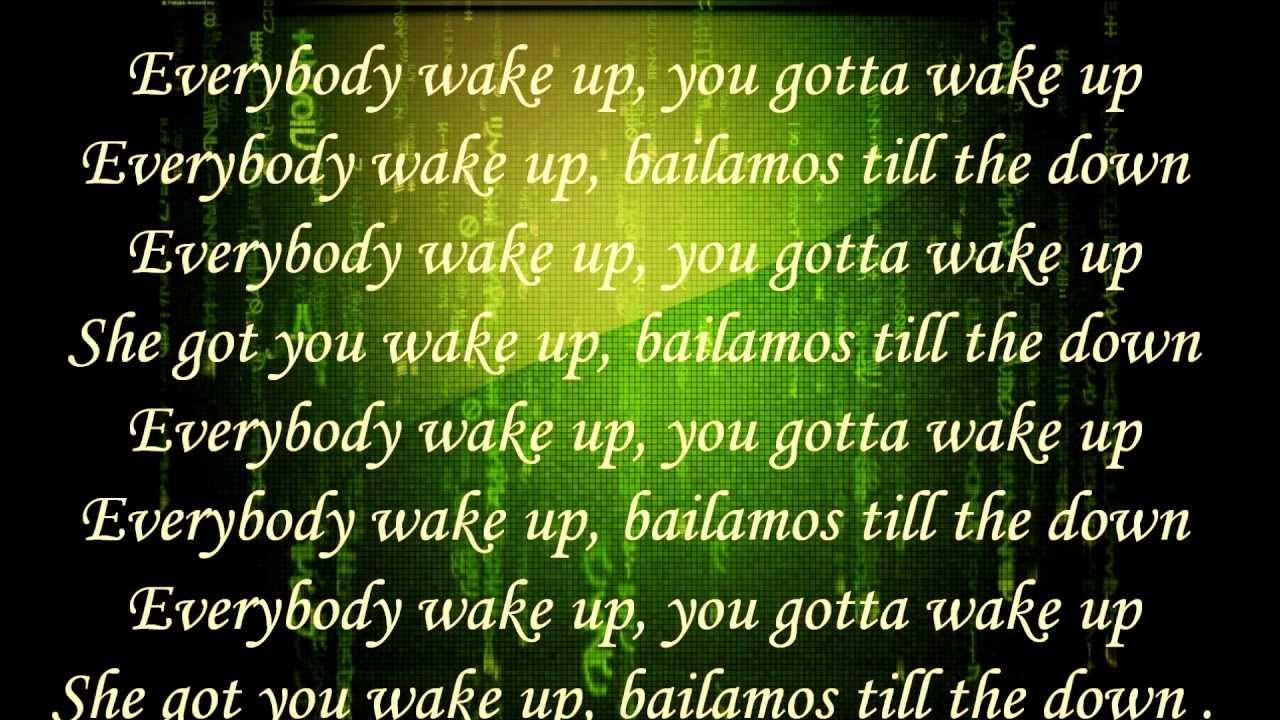 Wake the fuck up lyrics