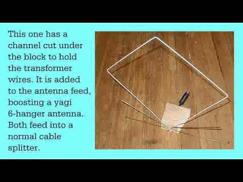 Wide Frequency Two Hanger Tv Antenna Youtube