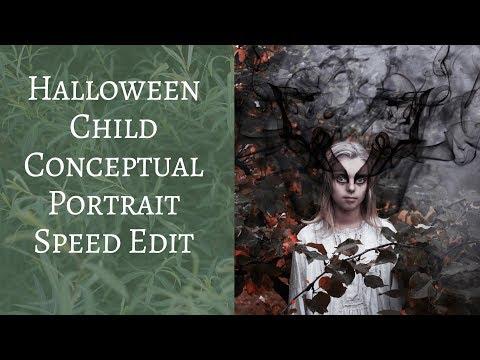 Halloween Child Conceptual Portrait Speed Edit  | Wild Empress