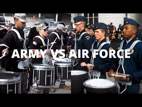 Air Force vs Army Drumline Battle