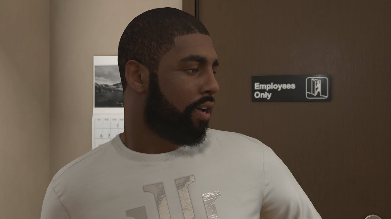 NBA 2K18 My Career - Kyrie Irving at the Barbershop! PS4 Pro 4K Gameplay