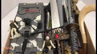 Box of Toys | Military toys 💥 Swords Toy ⚔️ Kids Favorite Toys and Candy 🍭🍬